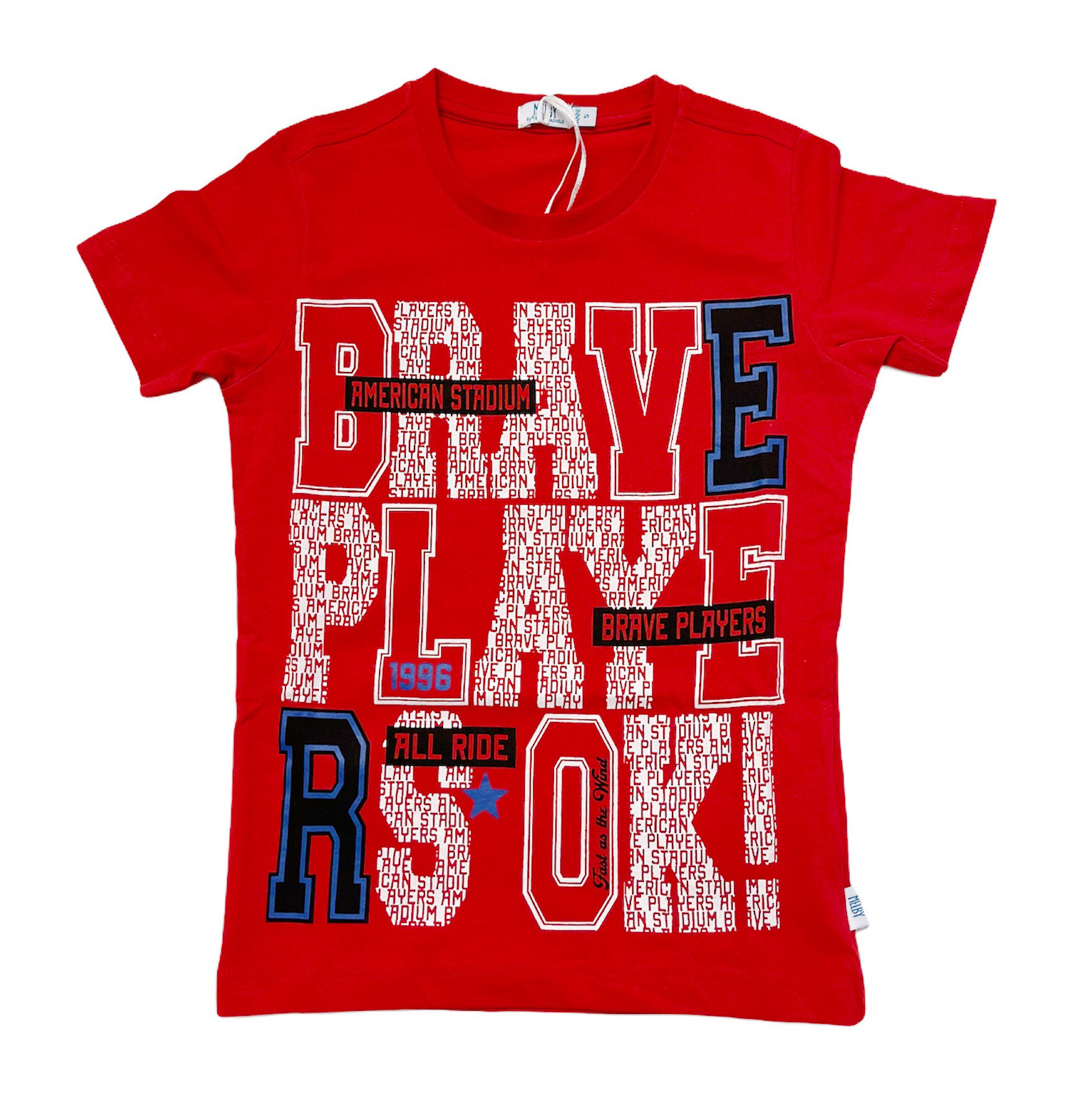 T-SHIRT MELBY ROSSA BRAVE PLAYERS 1